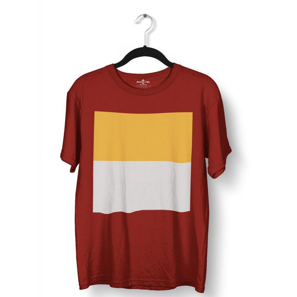 Dual Colour Block Round Neck T-Shirt - Mister Fab