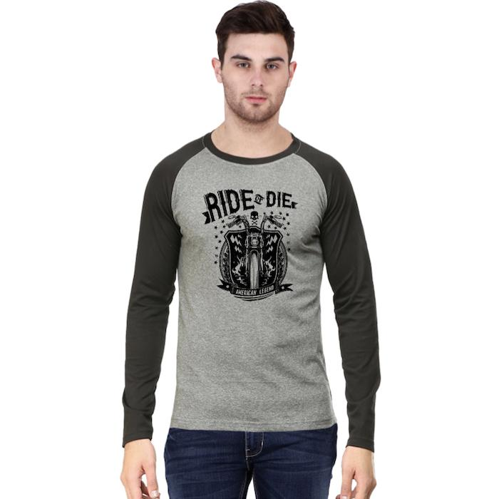 Ride Or Die Raglan Men T-Shirt - Mister Fab