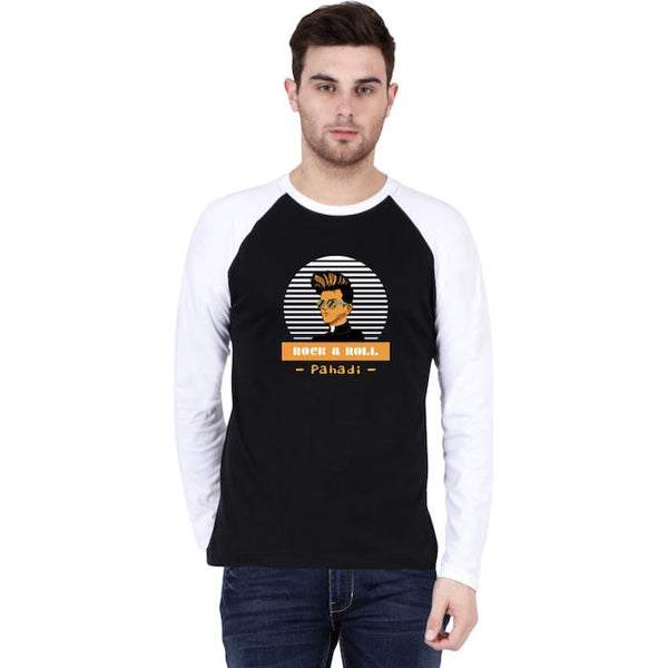 Rock and Roll Pahadi Raglan Men T-Shirt - Mister Fab