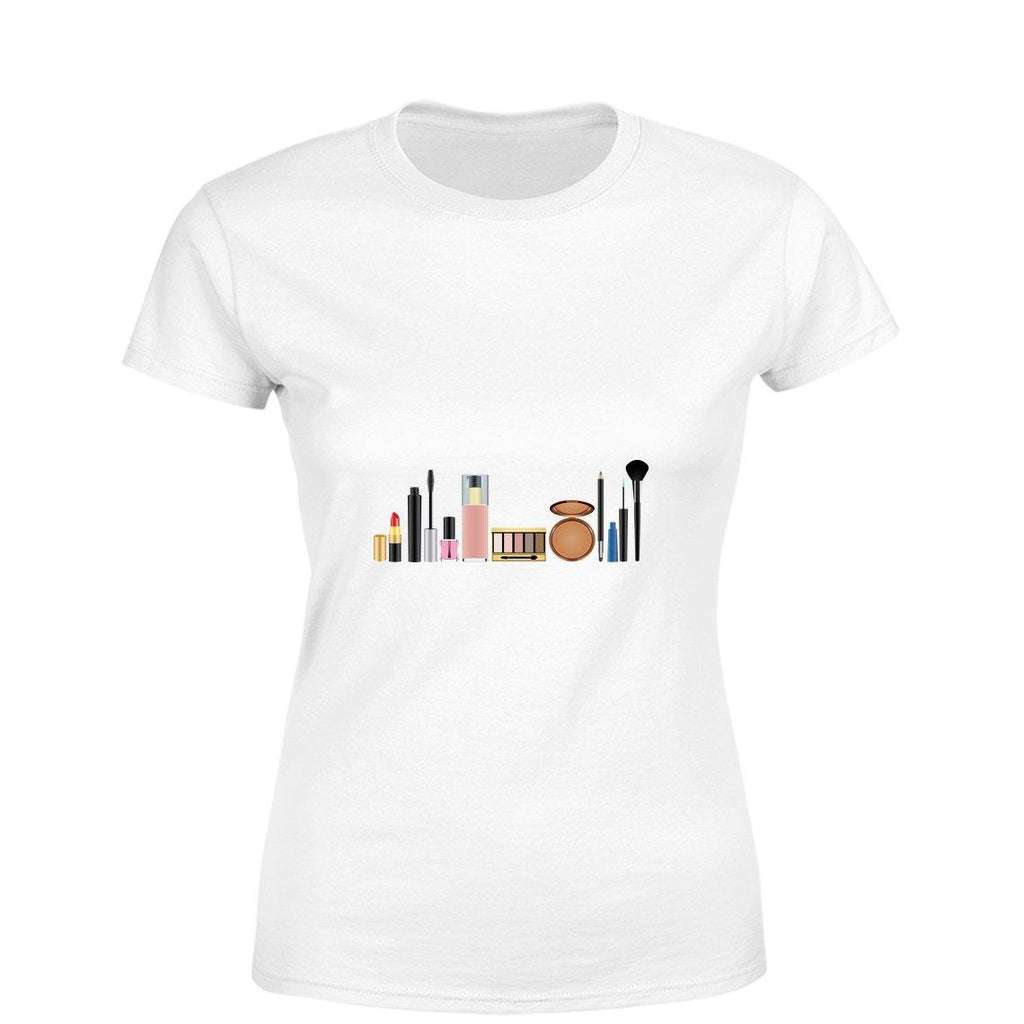 My Cosmetics Women Round Neck printed T-Shirts - Mister Fab