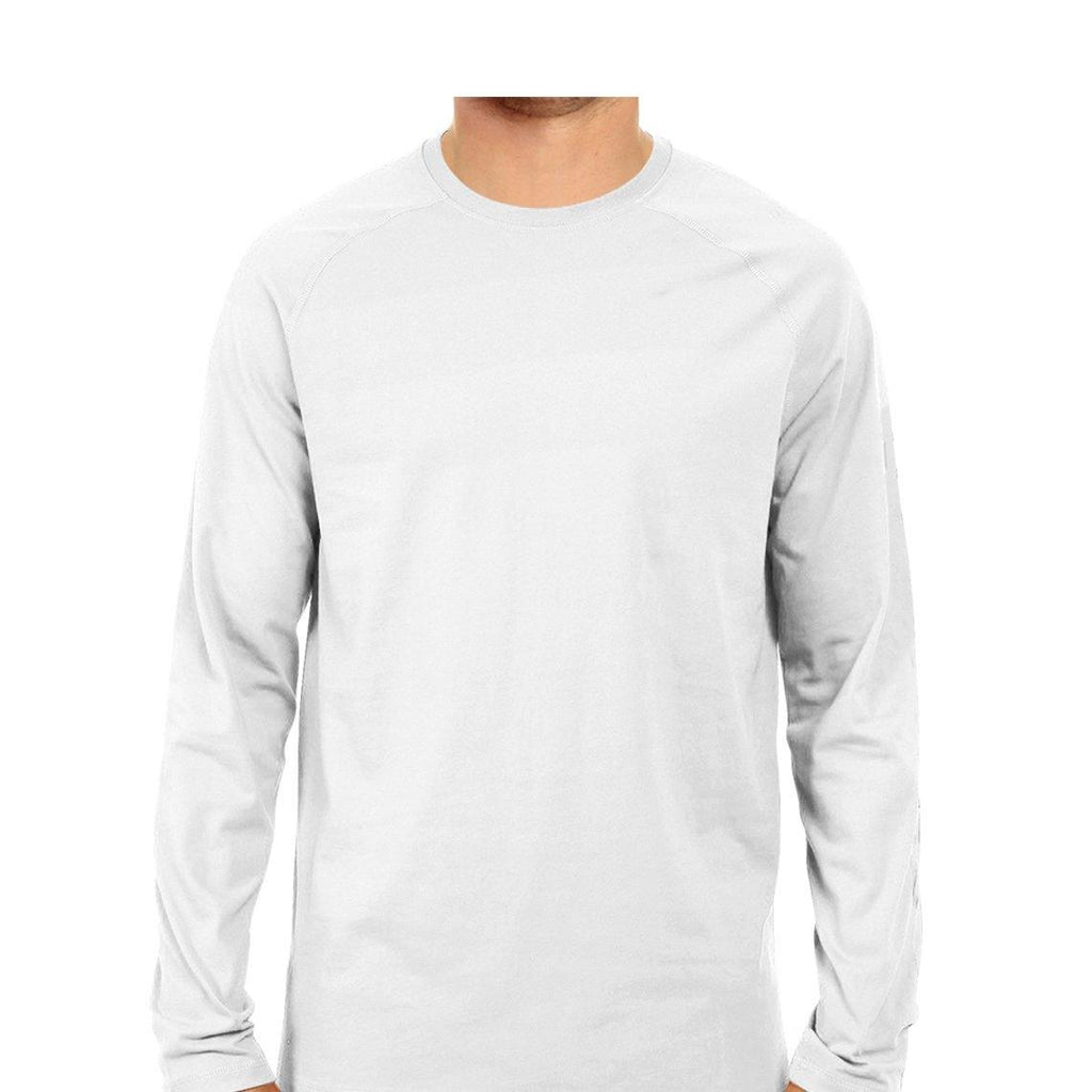 Plain White Long Sleeves T-shirts for Men - Mister Fab