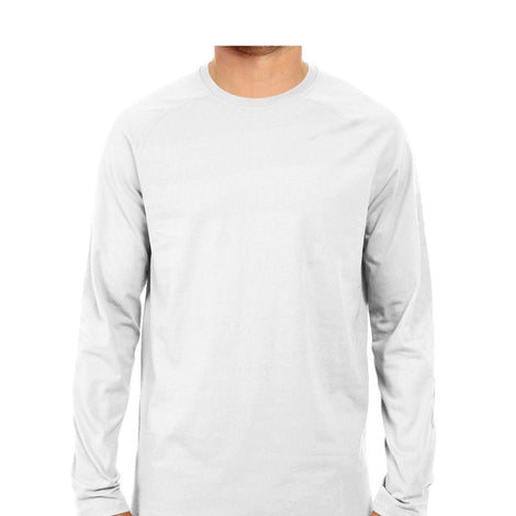 Plain White Long Sleeves T-shirts for Men - Mister Fab 5f292b78839