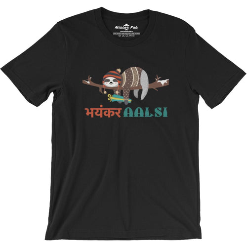 Bhayankar Aalsi Round Neck T-Shirts - Mister Fab