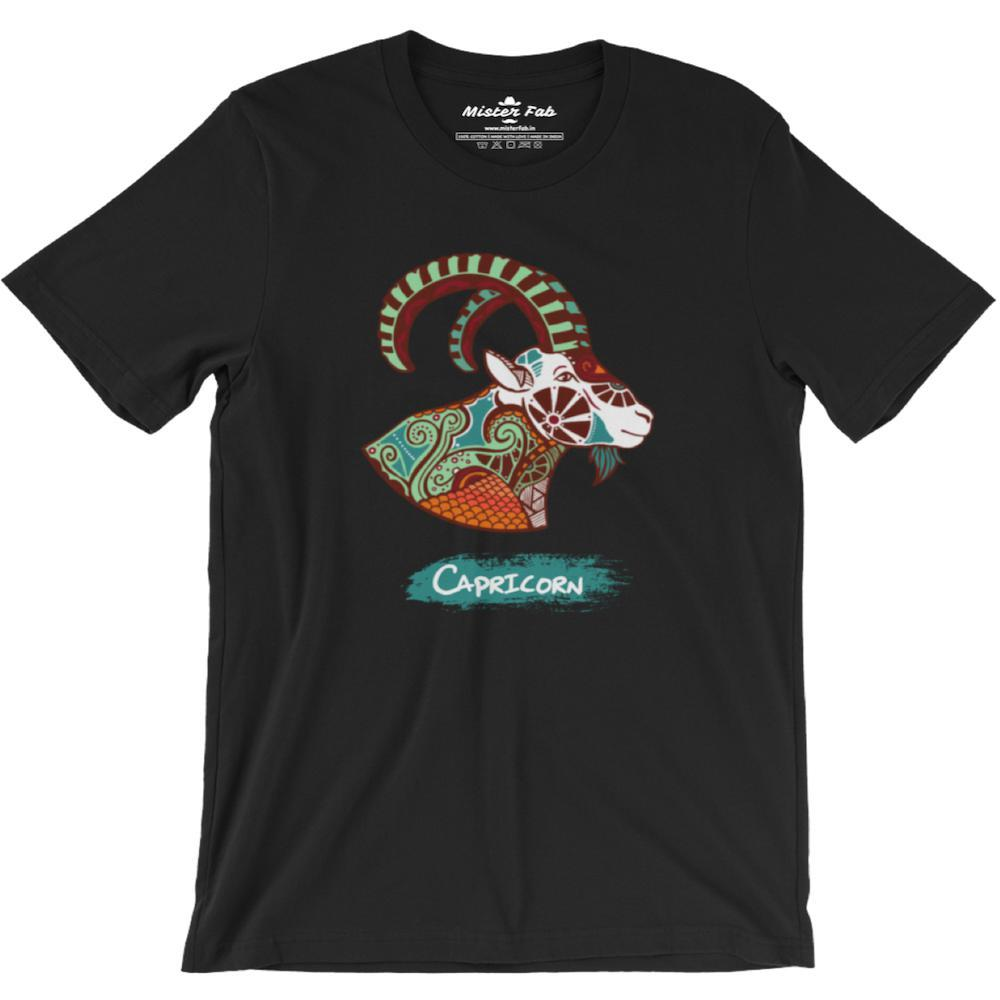 Capricorn round Neck T-Shirts - Mister Fab