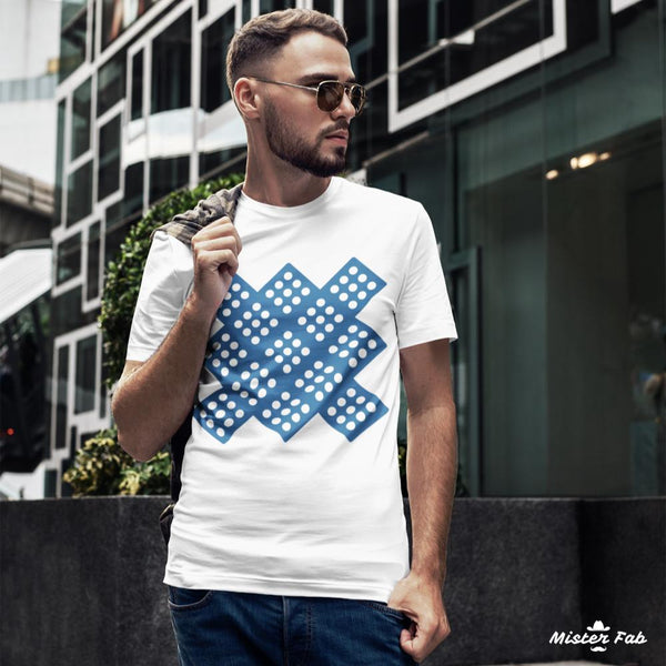 Dice Colour Block Pattern T-Shirts - Mister Fab