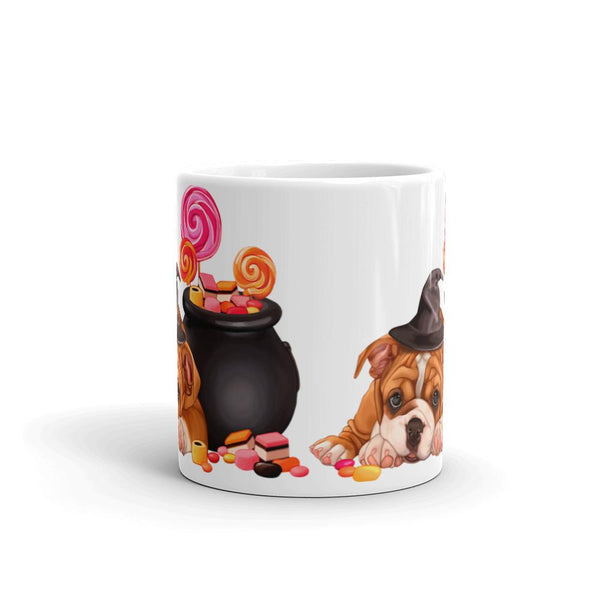 Cute Puppy With Candy Coffee Mug - Mister Fab
