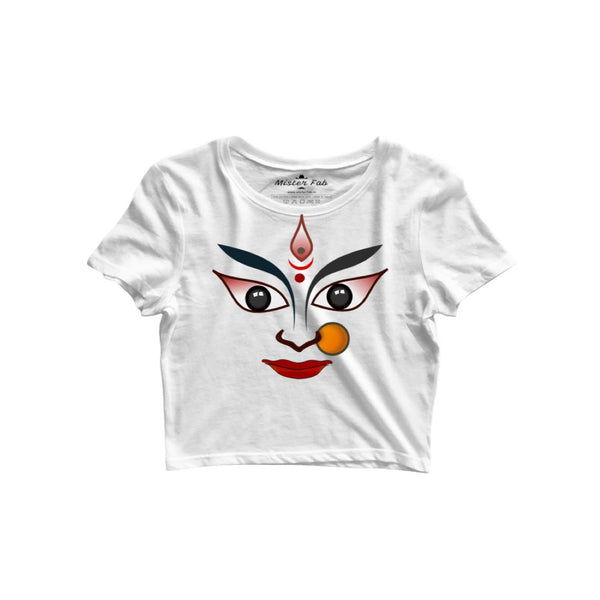 Durga Maa Women Crop Top - Mister Fab