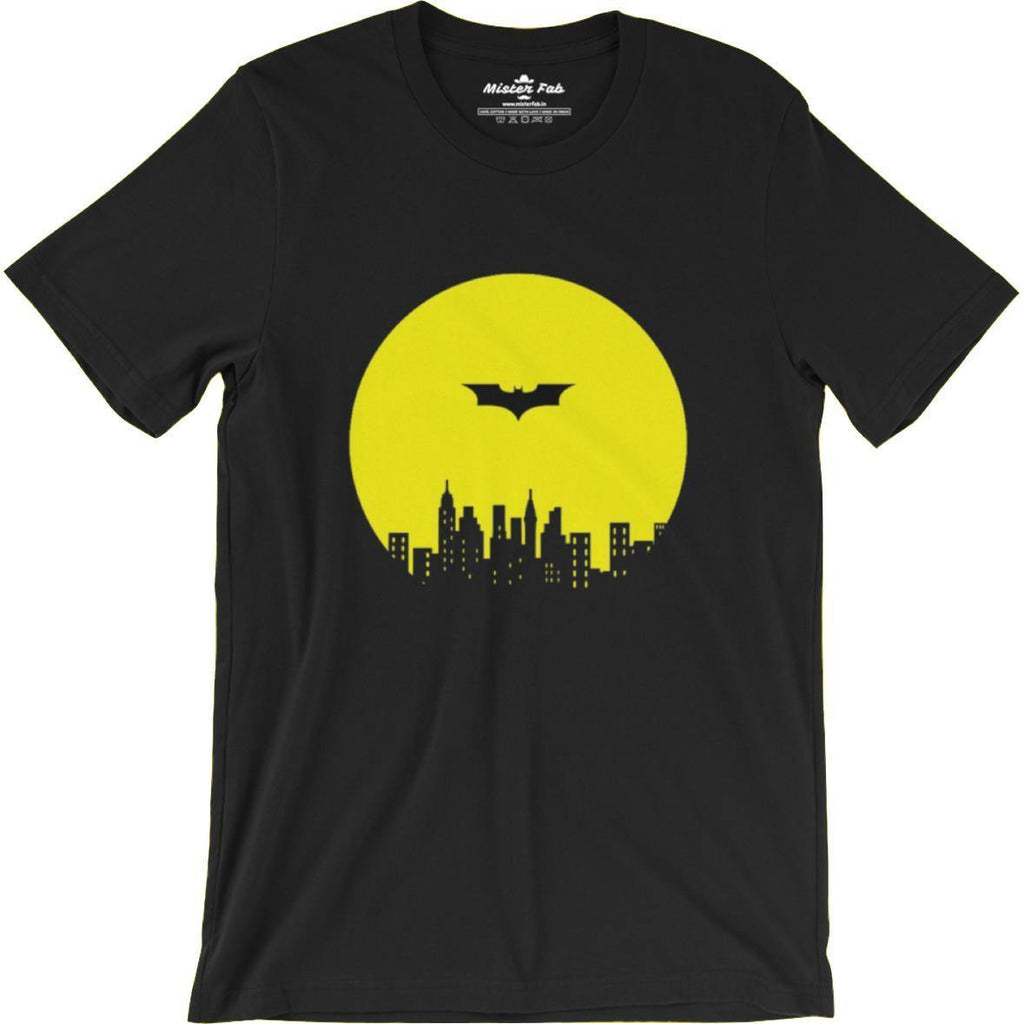 Flying batman round Neck T-Shirts - Mister Fab