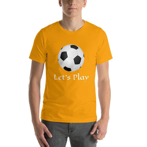 Let's Play Football Men Round Neck T-Shirts - Mister Fab