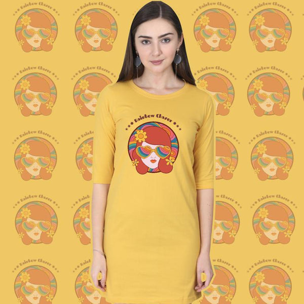Rainbow Girl T-shirt Dress - Mister Fab