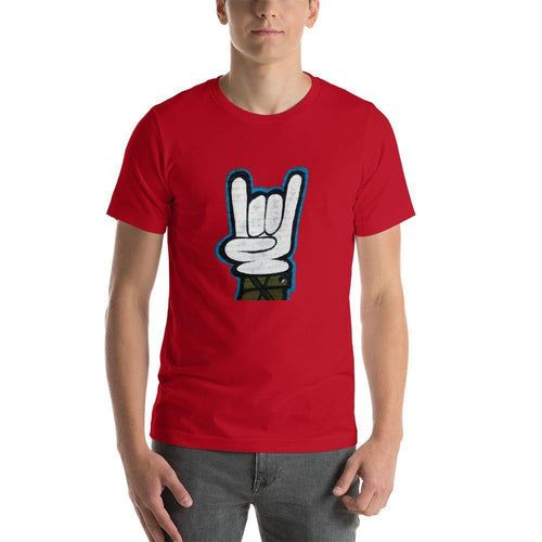Graffiti hand Men Round Neck printed T-Shirts - Mister Fab