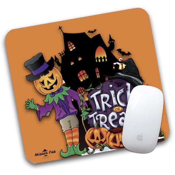 Pumpkin Trick or Treat Mouse Pad by Mister Fab - Mister Fab