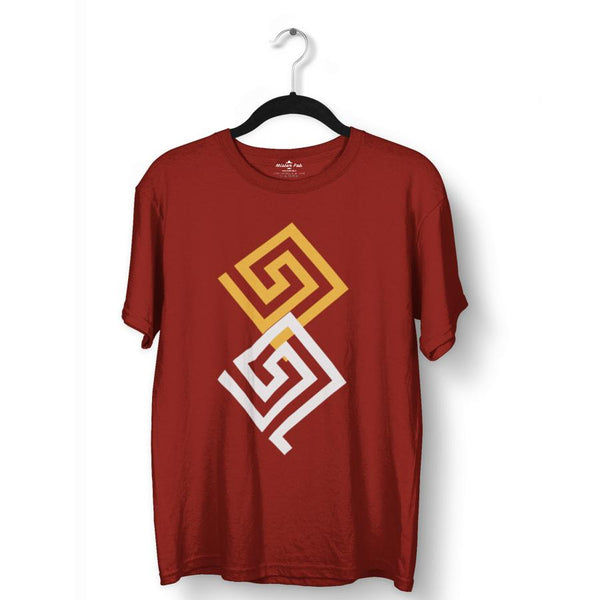 Entangled Colour Block Pattern T-Shirts - Mister Fab
