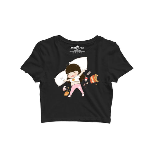 Lazy & Foodie Girl Crop Top - Mister Fab