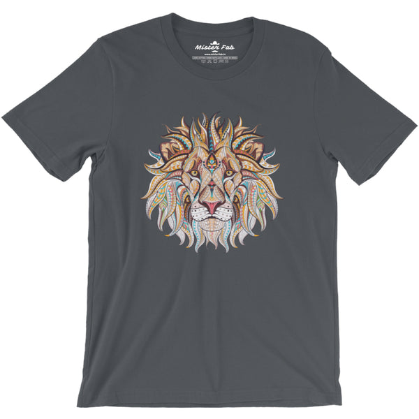 Lion's Mane Men Round Neck T-shirts - Mister Fab