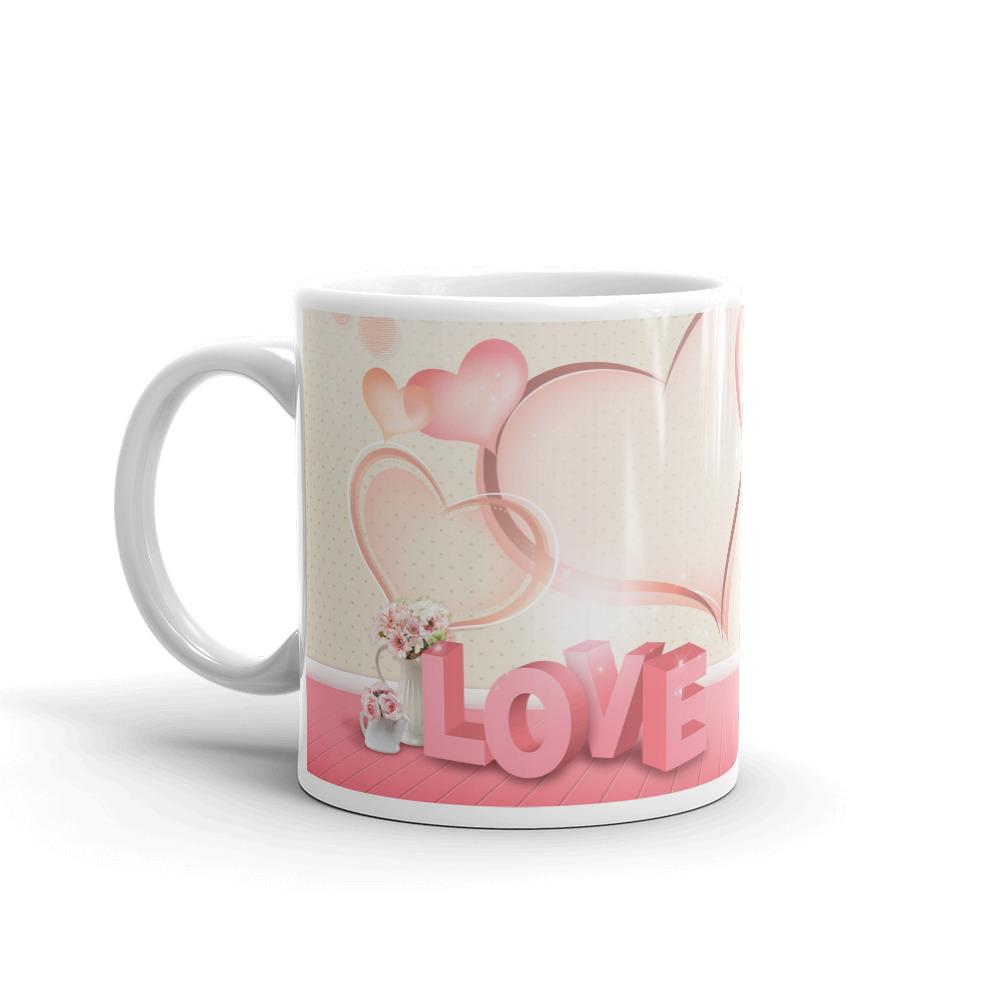 Love Heart Tea and Coffee Mug by Mister Fab - Mister Fab