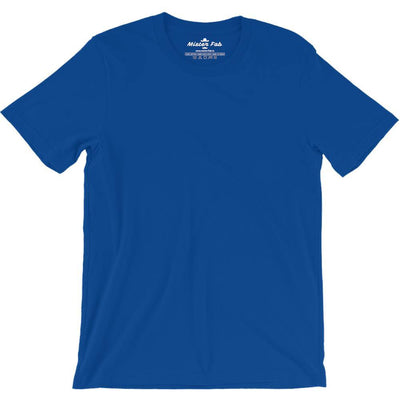 Royal Blue  Plain round Neck T-Shirts - Mister Fab