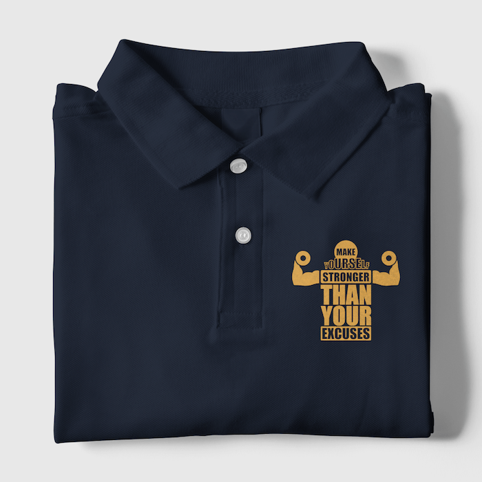 Make Yourself Stronger Polo T-Shirt - Mister Fab