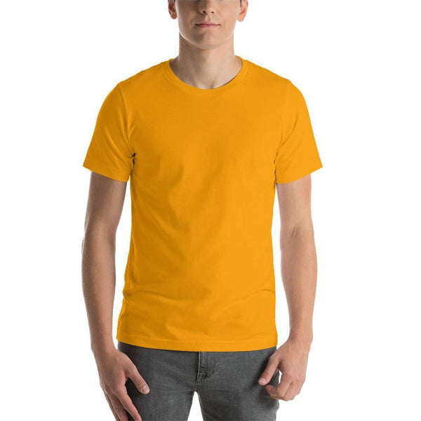 Golden Yellow Plain round Neck T-Shirts - Mister Fab