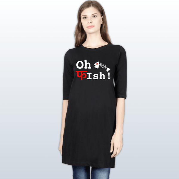 Oh Fish T-Shirt Dress - Mister Fab