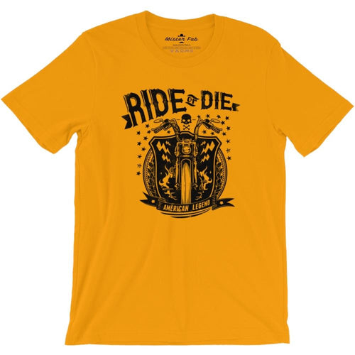 Ride or Die Men Round Neck T-shirts - Mister Fab