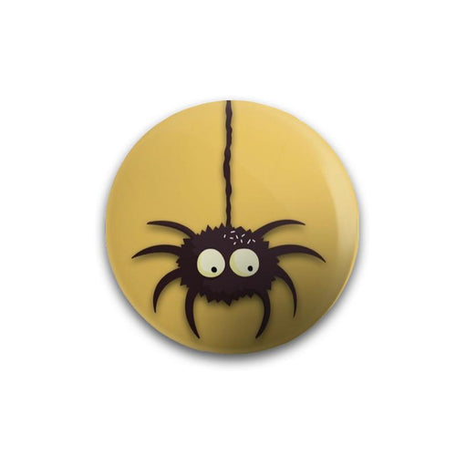 Hanging Spider Button Badge - Mister Fab