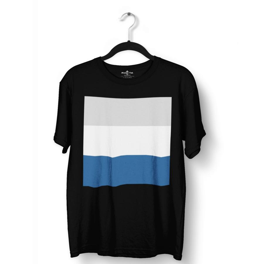 Tri Colour Block Pattern T-Shirts - Mister Fab