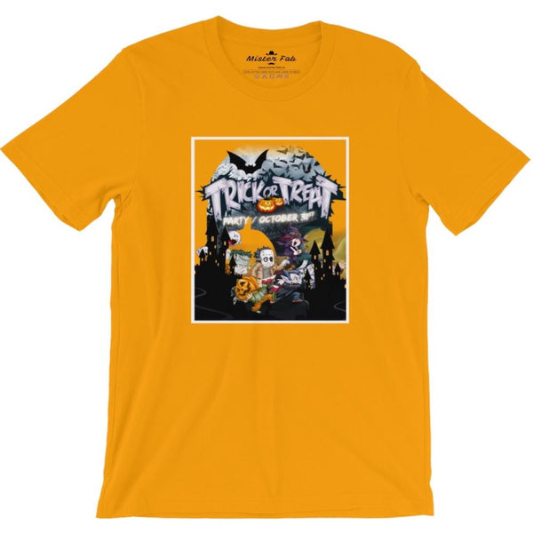 Trick or Treat round neck T-shirt - Mister Fab