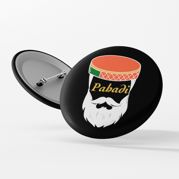Pahadi Beard Button Badge - Mister Fab