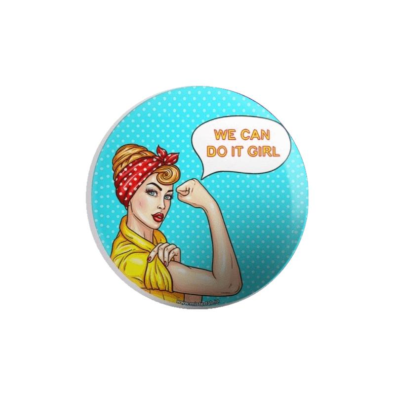 We Can Do It Girls Button Badge - Mister Fab