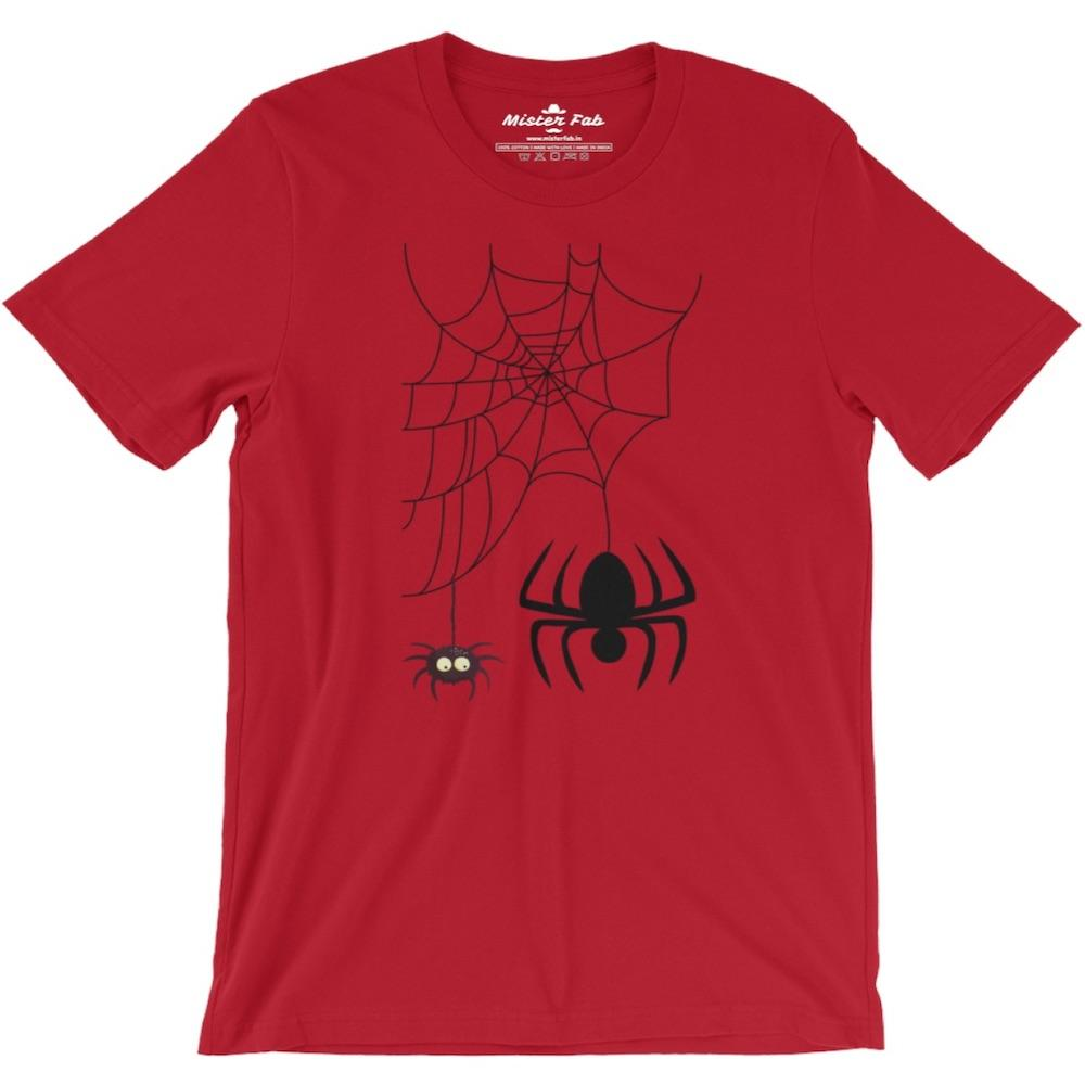 Web spider Men Round Neck T-Shirts - Mister Fab
