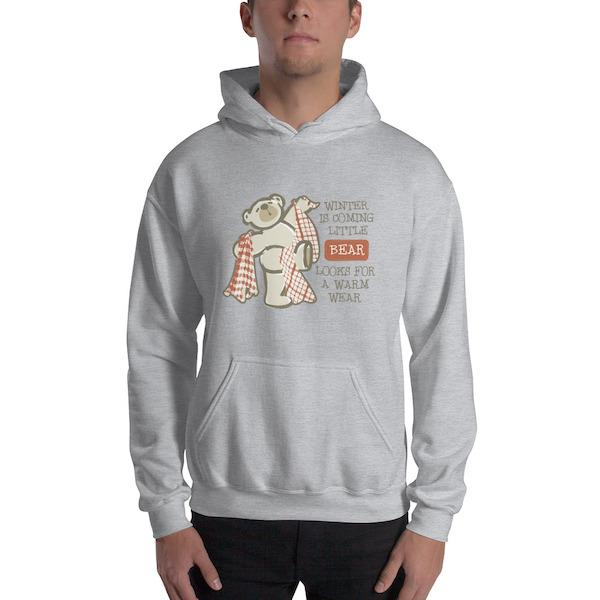 Winter is coming little bear Unisex Hoodie - Mister Fab