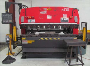 "88 TON x 98.7"" AMADA RG-80 HYDRAULIC PRESS BRAKE w/NC9-EX-II 3-AXIS CNC BACKGAUGE"
