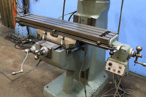 42'' Table 2HP Spindle Bridgeport SERIES I VERTICAL MILL, Vari-Speed,Acu-rite DRO,Chrome,Bport Pwr Fd, R-8