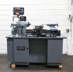 1980, Reconditoned 2019, 11'' Swing 18'' Centers Hardinge HLV-H PRECISION ENGINE LATHE, Acurite DRO, Like New!