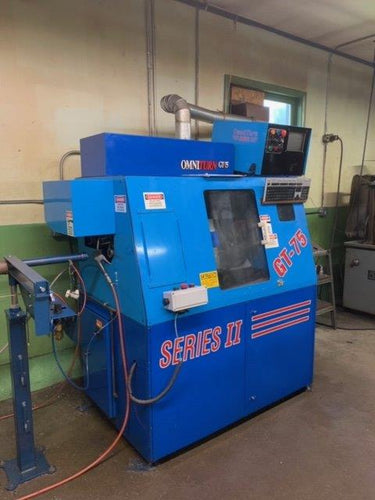 2004 OMNITURN GT-75 Series II CNC SLANT BED GANG TOOL LATHE