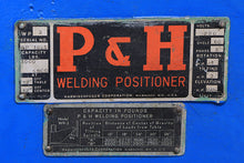 Load image into Gallery viewer, P & H WP3 WELDING POSITIONERS