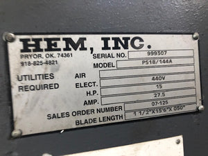 HE&M PLATE SAW