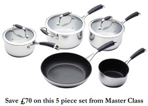 Masterclass 5 piece Pan set Savings of over £70