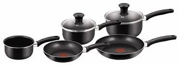 Tefal Delight 5-Piece Pan Set - Black
