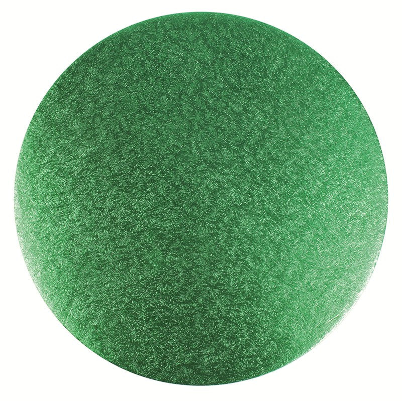 Double Thick Round Turned Edge Cake Card Green 254mm (10''Diameter)