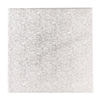 8'' (203mm) Single Thick Square Turn Edge Cake Card Silver Fern (1.75mm thick)