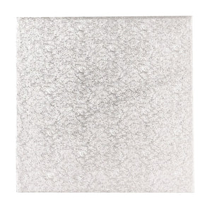 9'' (228mm) Single Thick Square Turn Edge Cake Card Silver Fern (1.75mm thick)
