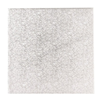 7'' (177mm) Single Thick Square Turn Edge Cake Card Silver Fern (1.75mm thick)