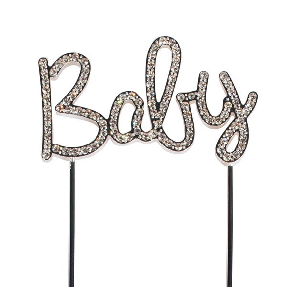Diamante Baby Cake Topper