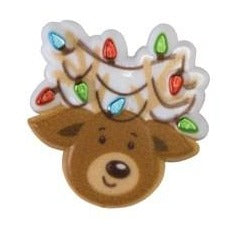 Christmas Ring Ideal Cupcake Decoration - Reindeer