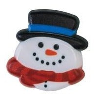 Christmas Ring Ideal Cupcake Decoration - Cheerful Snowman
