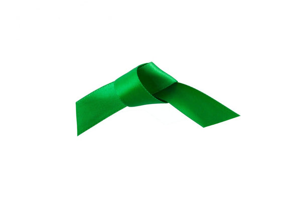 Woven Edge Satin Ribbon Grass Green 15mm