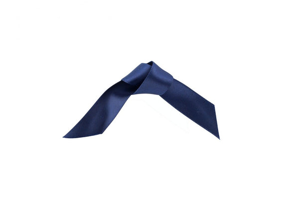 Woven Edge Satin Ribbon Navy Blue 25mm