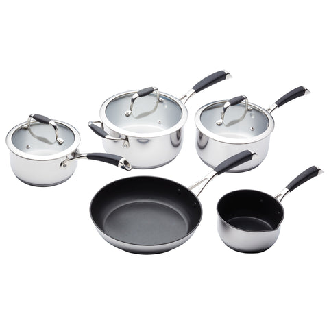 MasterClass 5 Piece Deluxe Stainless Steel Cookware Set